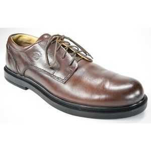 Timberland Men's Brown Leather Waterproof Oxfords